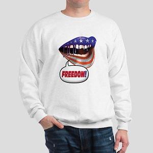 FlagMouth: FREEDOM [re1] Sweatshirt